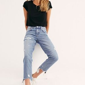 NEW Free People Good Time Relaxed Skinny Fit Jeans